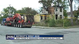 Body found in abandoned home raises blight concerns - Video