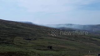 Another moor fire breaks out in the Peak District - Video