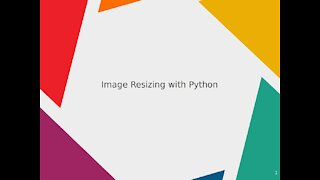 Image Resizing with Python
