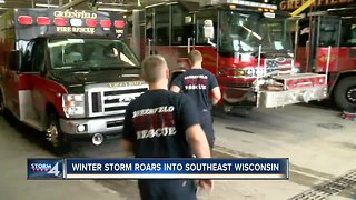 Greenfield fire crews take precautions during snowstorm