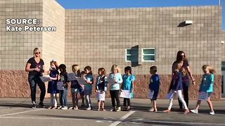 First graders show they're #VegasStrong - Video