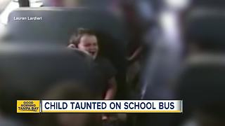 Kids bully 5-year-old with special needs on bus - Video