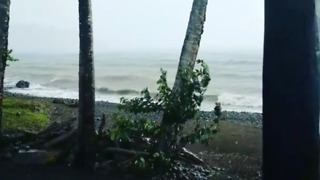 Irma Rainfall Picks Up Over Dominica - Video