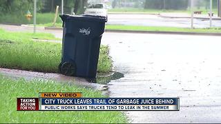Tampa homeowners concerned about garbage juice - Video