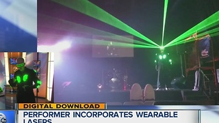 Wearable lasers? One performer is putting on quite the show next month - Video