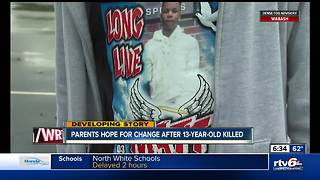 Parents hope for change following death of 13-year-old - Video