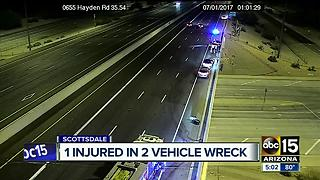 Person injured after multi-vehicle wreck on Loop 101 near Hayden - Video