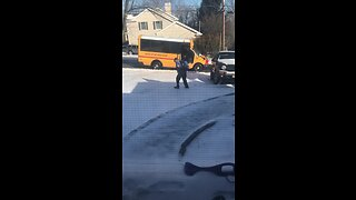 Kid Wears The Wrong Shoes For Slippery Snow - Video