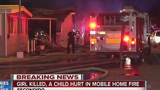 Girl killed in Escondido mobile home fire - Video