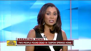 Police investigate man and woman found dead in Tarpon Springs home - Video