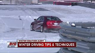 Keep these winter driving techniques in mind for a safer commute - Video