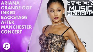 Ariana Grande and her crew get Manchester tattoos - Video