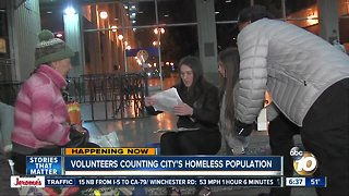 Groups of volunteers count San Diego's homeless population