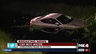 Car crashes into drainage ditch off Corkscrew Road - Video