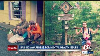 Fishers man completes mountain trail to raise money for mental health care - Video