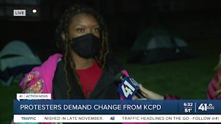 Protesters demand change from KCPD
