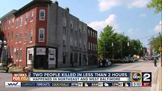 2 people killed in separate shootings Tuesday afternoon - Video