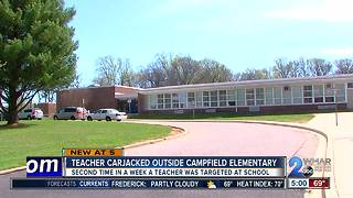 Another teacher carjacked at elementary school in Baltimore County