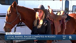 Local barrel racer competes in Tucson Rodeo