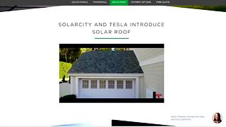 Solarcity and Tesla introduce solar roof - Video