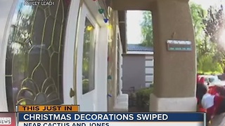 CAUGHT ON CAMERA: Thieves target Christmas decorations - Video