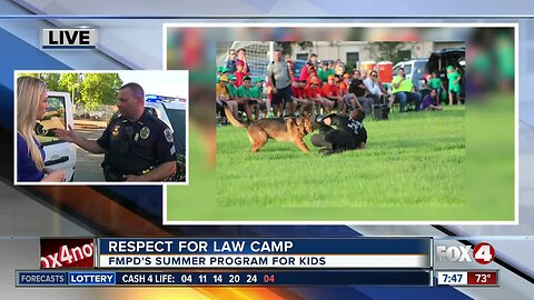 Fort Myers Police Dept. gets ready for Respect for Law Camp 7:30 a.m.
