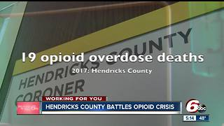 Opioid-related deaths in Hendricks County rising - Video