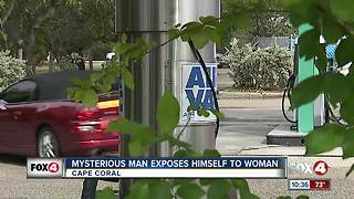 Mysterious man exposes himself to woman - Video