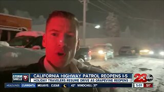 CHP reopens I-5 in both directions following winter weather storm