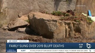 Family suing over 2019 bluff deaths