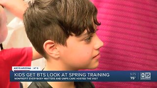 Kids get behind-the-scenes look at spring training