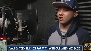 Valley teen blends rap with anti-bullying message - Video
