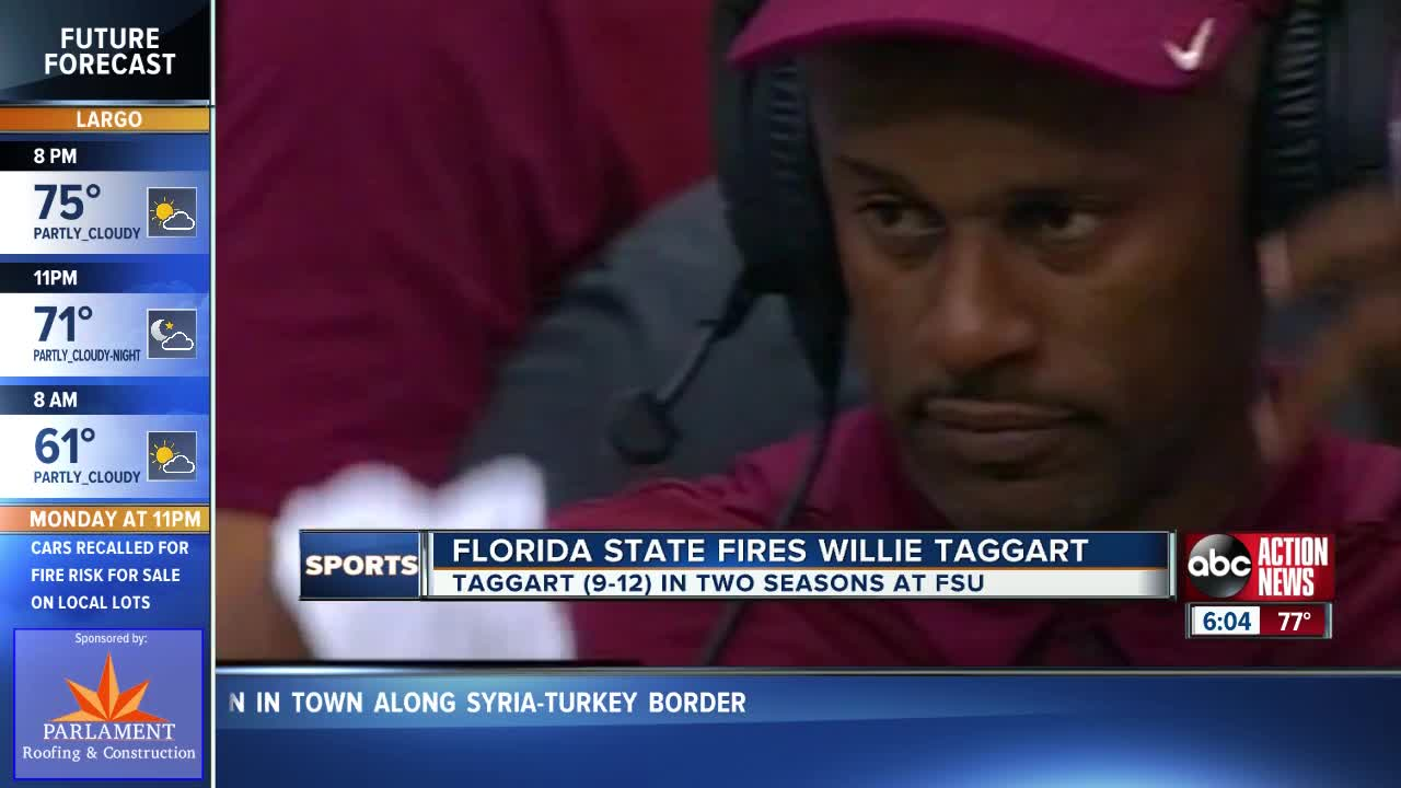 Florida State fires head coach Willie Taggart