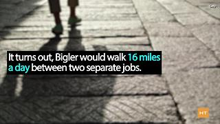 Man walks 16 miles daily for 2 jobs, gets free car - Video