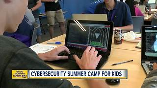 USF's Cybersecurity Summer Camp gets kids ready for jobs fighting hackers - Video