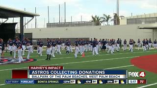 Houstron Astros collecting donations for Harvey relief - Video