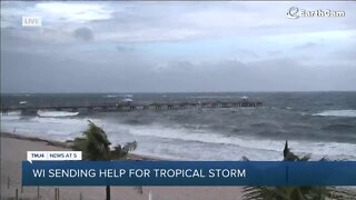 Wisconsin sends help for tropical storm