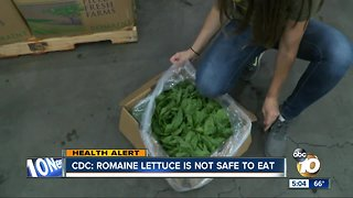 CDC: Romaine lettuce is not safe to eat