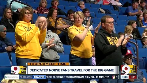 Dedicated Norse fans travel to game in Tulsa