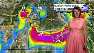 Still sunny across SW Idaho but cool & blustery too - Video