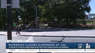 In-person classes suspended at JHU
