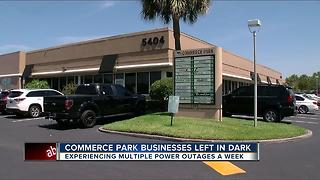 Commerce Park businesses left in the dark - Video