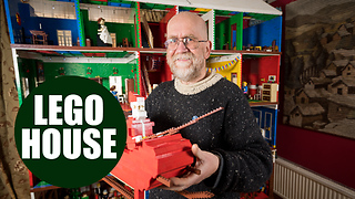 Lego-obsessed family build an incredible 8ft-tall Victorian dollhouse in their living room - Video