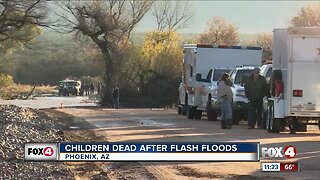 Children dead after flash floods