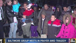 Community holds prayer walk for separate tragedies in Baltimore - Video