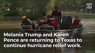 Melania's Trip to Texas a Contrast With Michelle Obama - Video