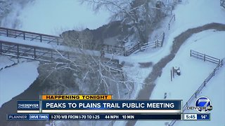 Peaks to Plains Trail public meeting tonight