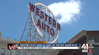 Western Auto sign to light up KC skyline again - Video