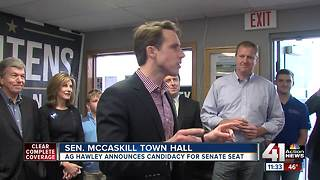 Republican AG Josh Hawley announces run for McCaskill's US Senate seat in 2018 - Video