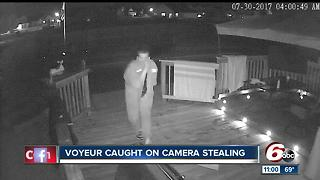 Man caught peeping at women, stealing property on Indy's south side - Video